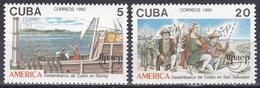 Kuba Cuba 1992 Geschichte History Entdeckungen Discovery Amerika Kolumbus Columbus Schiffe Ships, Mi. 3569-0 ** - Ungebraucht