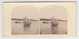 Stereoscopische Kaart.    NEY-YORK.     N.Y.BAY.  Schooner V Ferry Boat - Cartes Stéréoscopiques