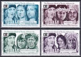 Tuvalu 1992 Geschichte History Entdeckungen Discovery Amerika Kolumbus Columbus Indianer Isabella, Mi. 615-8 ** - Tuvalu (fr. Elliceinseln)