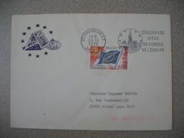 Lettre 1976  Siège Du Conseil De L'Europe Strasbourg RP Bas Rhin Pour Aulnay - Storia Postale