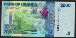 UGANDA NLP 2000 SHILLINGI 2019 #CE **NEW NOTE DATED 2019 ** UNC. - Ouganda