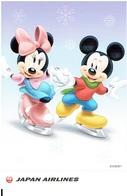 JAPAN AIR LINES - Werbekarte DISNEY / Mickey + Minnie Mouse (airline Issue) - 1946-....: Moderne