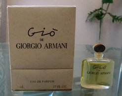 GIO - EDP 5 ML Boite Luxe De GIORGIO ARMANI - Miniatures Modernes (à Partir De 1961)