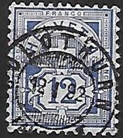 Schweiz Suisse 1882: Faser-papier Melée Zu 62A Mi 55X Yv 63 - 12c Blau Bleu Mit Voll-o SOLOTHURN 12.I.92 (Zu CHF 6.00) - 1882-1906 Armoiries, Helvetia Debout & UPU