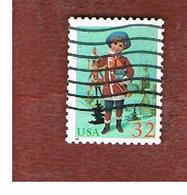 STATI UNITI (U.S.A.) - SG 3120 - 1995 CHRISTMAS: BOY WITH JUMPING JACK  (USA GREEN)   - USED - Used Stamps