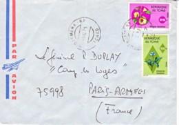 TCHAD : 1975 - Lettre Par Avion Pour Paris Armées - Fleurs - Tschad (1960-...)