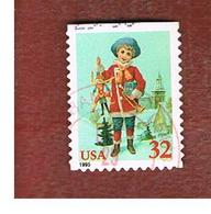 STATI UNITI (U.S.A.) - SG 3128 - 1995 CHRISTMAS: BOY WITH JUMPING JACK  (USA RED)   - USED - Used Stamps