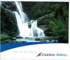 Werbekarte SRI LNAKAN AIRLINES - You're Our World (Airline Issue) ### XXL-size #### - Flugwesen