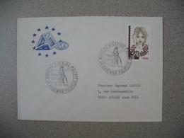 Lettre 1978  - Conseil De L'Europe Musée D'Histoire Des PTT  Riquewihr  Pour Aulnay - Marcophilie (Lettres)