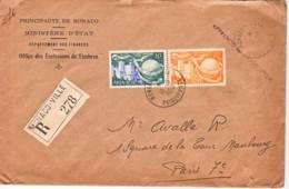 MONACO : 1950 - Lettre Recommandée Pour La France - Affranchi Par L'expéditeur - UPU - Non Classés