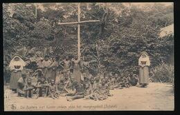 SCHEUT    DE ZUSTERS MET HUNNE ZIEKEN VOOR HET MORGENGEBED - Congo Belge - Autres