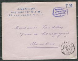 FRANCE 1919 Lettre Entiére  Hopital Temporaire De Vigny - Postmark Collection (Covers)