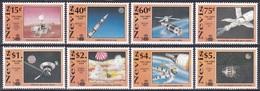 Nevis 1991 Geschichte History Entdeckungen Discovery Kolumbus Columbus Weltraum Weltall Space Apollo, Mi. 586-3 ** - St.Kitts Und Nevis ( 1983-...)
