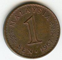 Malaysie Malaysia 1 Sen 1967 KM 1 - Malaysie