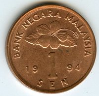 Malaysie Malaysia 1 Sen 1994 KM 49 - Malaysie