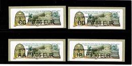 LISA 2 --4 Valeurs Moins De 20g--  SALON PHILATELIQUE DE PRINTEMPS-- PARIS 2019--Fontaine St Michel - 2010-... Illustrated Franking Labels