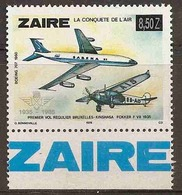 LSJP ZAIRE AVIATION FOKKER BOEING 707 1978 SURCHARGE - Timbres