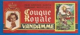 94 - CHOISY-LE-ROI - BUVARD ILLUSTRÉ - PAIN D'ÉPICES VANDAMME - COUQUE ROYALE - HISTOIRE DE FRANCE - CLOVIS ( VASE) -N°1 - Pain D'épices