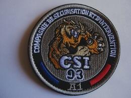 ECUSSON TISSUS PATCH POLICE NATIONALE AUTOROUTE A1 LA CSI DU 93 SUR VELCROS - Police & Gendarmerie