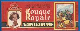 94 - CHOISY-LE-ROI - BUVARD ILLUSTRÉ - PAIN D'ÉPICES VANDAMME - COUQUE ROYALE - HISTOIRE DE FRANCE - CHARLES MARTEL -N°4 - Pain D'épices