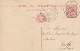 Castelsaraceno. 1917. Annullo Grande Cerchio CASTELSARACENO (POTENZA), Su Cartolina Postale Con Testo - 1900-44 Victor Emmanuel III
