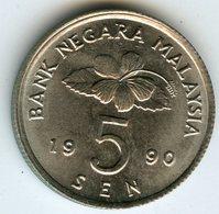 Malaysie Malaysia 5 Sen 1990 KM 50 - Malaysie