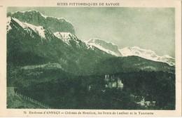 32076. Postal ANNECY (Haute Savoie), Chateau De MENTHON, Dents De LANFORT Et TOURNETTE - Annecy