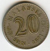 Malaysie Malaysia 20 Sen 1971 KM 4 - Malaysie