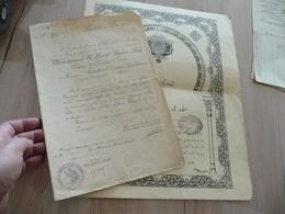 Diplôme Ordre De Nichan Iftikar Offcier Scordino 1927 + Lettre D'accompagnement Tunisie - Documents