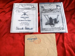 2 Airgraphs Uit WO II (1943/1944) + Enveloppe - Errors, Freaks & Oddities (EFOs