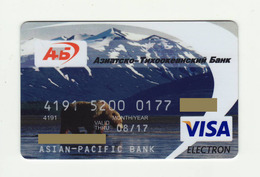 Asian Pacific Bank RUSSIA Bear VISA  EXPIRED - Tarjetas De Crédito (caducidad Min 10 Años)
