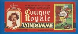 94 - CHOISY-LE-ROI - BUVARD ILLUSTRÉ - PAIN D'ÉPICES VANDAMME - COUQUE ROYALE - HISTOIRE DE FRANCE - LOUIS XVI -N°15 - Pain D'épices