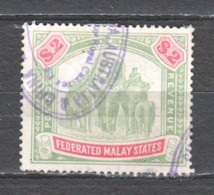 Malaya State 1907 Mi 36 Wmk 3 Canceled (see Scan) - Fédération De Malaya