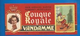 94 - CHOISY-LE-ROI - BUVARD ILLUSTRÉ - PAIN D'ÉPICES VANDAMME - COUQUE ROYALE - HISTOIRE DE FRANCE - LOUIS XVIII -N°16 - Gingerbread