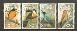 Trinidad & Tobago 1990 Mi 614-615-617-619 Canceled BIRDS - Trinité & Tobago (1962-...)