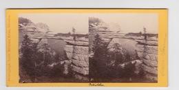 Stereoscopische Kaart.    Suisse Sax.  See Scan. 1869 - Cartes Stéréoscopiques