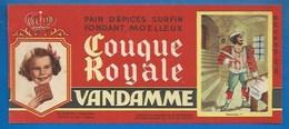 94 - CHOISY-LE-ROI - BUVARD ILLUSTRÉ - PAIN D'ÉPICES VANDAMME - COUQUE ROYALE - HISTOIRE DE FRANCE - FRANÇOIS 1er -N°10 - Pain D'épices