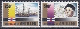 Niederländische Antillen Antilles 1992 Geschichte History Entdeckungen Discovery Kolumbus Columbus Schiffe, Mi. 750-1 ** - Niederländische Antillen, Curaçao, Aruba
