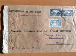 194? CENSURE  Sur Lettre Du Sénégal - Dakar Pour Le Maroc - Senegal (1887-1944)