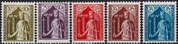 1932 Série Caritas Aide à L'Enfance, Neuf,  Michel 2019: 245-249, Valeur Catalogue:100€  2Scans - Luxembourg