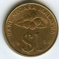 Malaysie Malaysia 1 Ringgit 1991 KM 54 - Malaysie