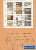 CANADA - Lettre Recommandée Feuillet Série 874 à 885 - L'Ancienne-Lorette 29 Août 1984 - 1952-.... Règne D'Elizabeth II