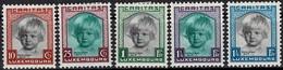 1931 Série Caritas Aide à L'Enfance, Neuf,  Michel 2019: 240-244, Valeur Catalogue:100€  2Scans - Luxembourg