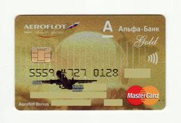 Alfa Bank RUSSIA Aeroflot Russian Airlines AVIO Mastercard Gold Expired - Geldkarten (Ablauf Min. 10 Jahre)
