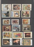 Tematica - Arte - Pittura - Quadri Famosi - Lotto - Accumulo - Vrac - 18 Francobolli - Nuovi E Usati - Francobolli