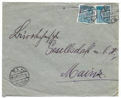 Stettin - Deutsches Reich - Lettre -  Vers Mainz, Mi. 239; 1923 - Allemagne