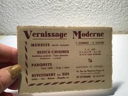 Carte De Visite Vernissage Moderne Lyon Saint-Étienne Meubles Bloc Cuisine Parquet - Visiting Cards