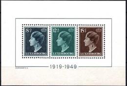 1949 Block Grande Duchesse Charlotte Neuf,  Michel 2019: BF7, Valeur Catalogue: 130€  2Scans - Luxembourg