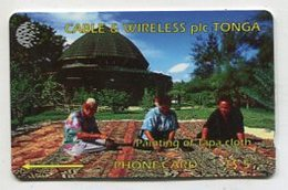 TK 00627 TONGA - 1CTGA.../B Painting Of Tapa Cloth - Tonga