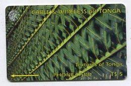TK 00629 TONGA - 129CTGA.../B Textrues Of Tonga - Tonga